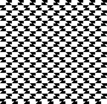 Black and white geometric seamless pattern with trapezoid, abstract background, vector, illustration. Illustration
