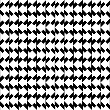 trapezoid: Black and white geometric seamless pattern with trapezoid, abstract background, vector, illustration. Illustration
