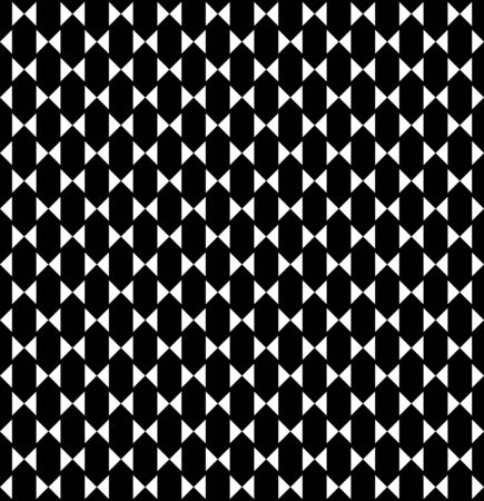 Black and white geometric seamless pattern with triangle and hexagon, abstract background, vector Illustration