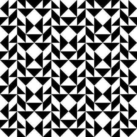 trapezoid: Black and white geometric seamless pattern with triangle trapezoid and square, abstract background, vector, illustration