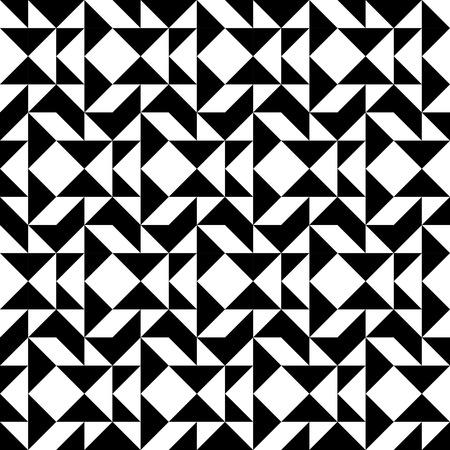 trapezoid: Modelo incons�til geom�trico blanco y negro con trapecio tri�ngulo y cuadrado, resumen de antecedentes, vector, ilustraci�n