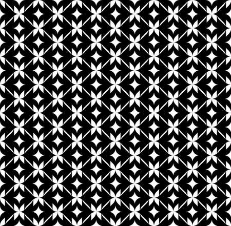 Black and white geometric seamless pattern, abstract background, vector, illustration. Vector