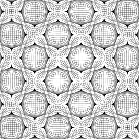 Black and white geometric seamless pattern with line, abstract background, vector, illustration. Vector