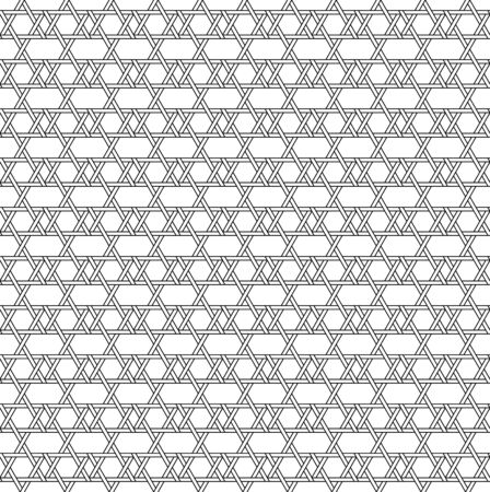 interlace: Black and white geometric seamless pattern with weave style, abstract background, vector, EPS10