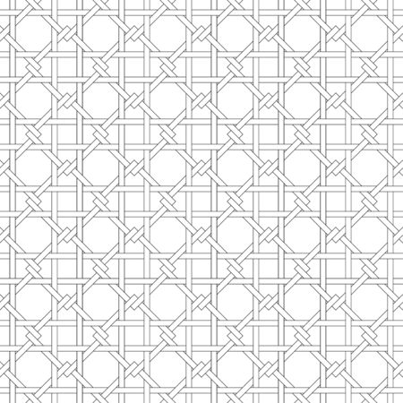 Black and white geometric seamless pattern with weave style, abstract background, vector, EPS10 Vector
