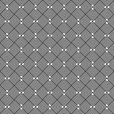 interlace: In bianco e nero geometrico senza soluzione di continuit�, sfondo astratto, vettore, EPS10. Vettoriali