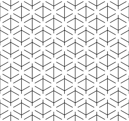 Black and white geometric seamless pattern with line, abstract background, vector, EPS10. Stock Illustratie