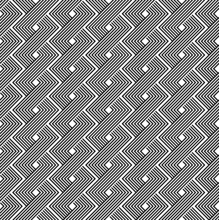 Black and white geometric seamless pattern with line, abstract background, vector, EPS10. Vector