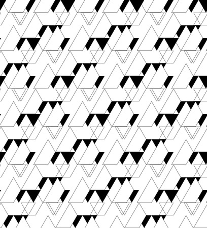 Black and white geometric seamless pattern with triangle and trapezoid, abstract background, vector, EPS10 Vector