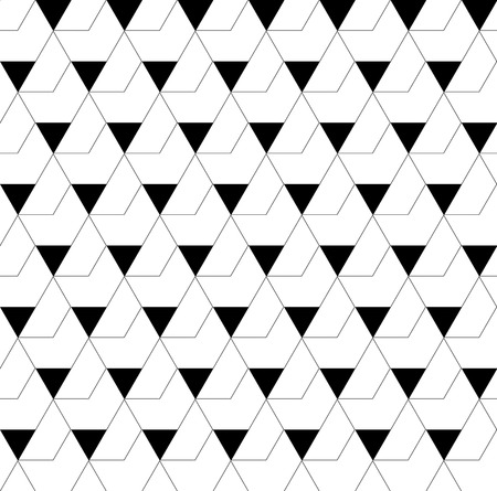 trapezoid: Black and white geometric seamless pattern with triangle and trapezoid, abstract background, vector, EPS10