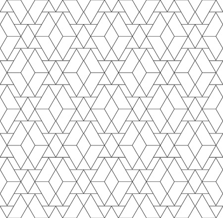 Black and white geometric seamless pattern with triangle and trapezoid, abstract background, vector, EPS10