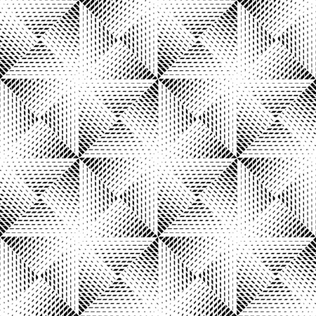 Black and white geometric seamless pattern, abstract background, vector.