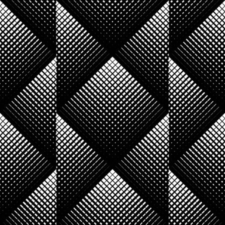 Black and white geometric seamless pattern, abstract background, vector. Vector