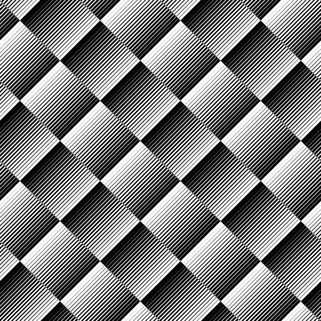 Black and white geometric seamless pattern with line, abstract background, vector, illustration. 向量圖像