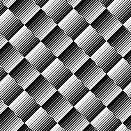 Zwarte en witte geometrische naadloze patroon met lijn, abstracte achtergrond, vector, illustratie.