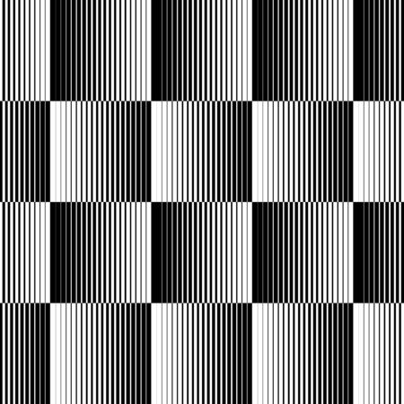 Black and white geometric seamless pattern with line, abstract background, vector, illustration. Illustration