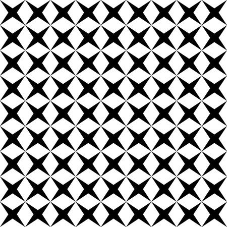 Black and white geometric seamless pattern, modern stylish, abstract background, vector, illustration.