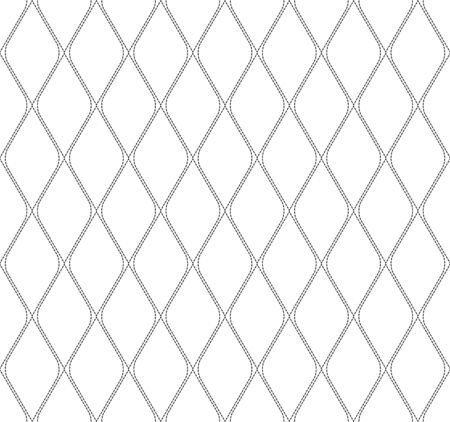 dashed: Black and white geometric seamless pattern with dashed line, abstract background, vector, illustration.