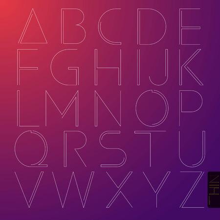 Set of alphabet in capital letter Vector