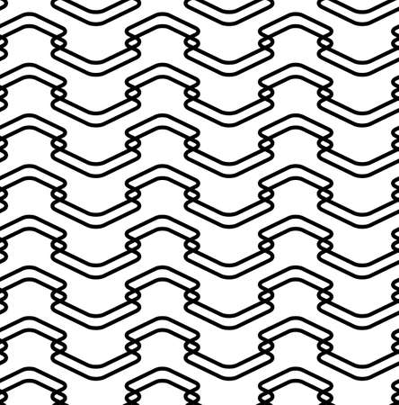 Black and white seamless pattern modern stylish with line, abstract background. vector, illustration.