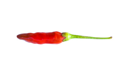 admixture: red hot chilli pepper isolated on white background. Stock Photo