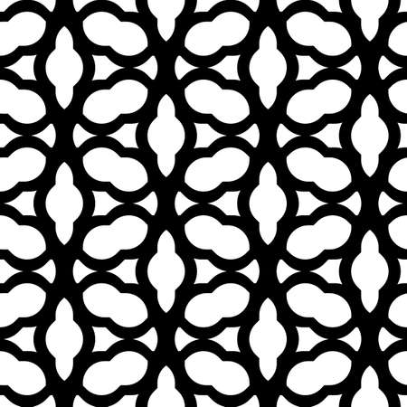Black and white geometric seamless pattern chinese style, abstract background, vector, illustration.