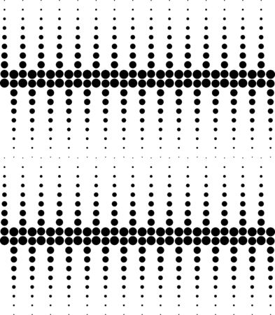 Black and white geometric seamless pattern with circle, abstract background, vector, illustration. Illustration