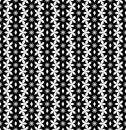 repetition: Black and white seamless pattern with flower stylish, abstract background, vector, illustration. Illustration