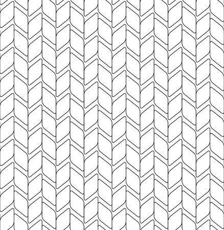 round corner: Black and white geometric seamless pattern with round corner diamond, abstract background, vector, illustration.