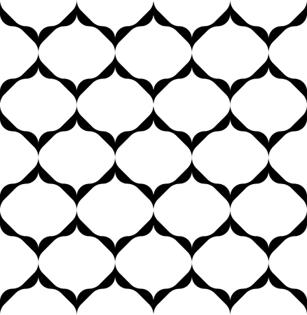 Black and white geometric seamless pattern modern stylish, abstract background, vector, illustration. Vector