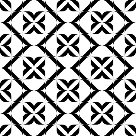 Black and white seamless pattern, abstract background, vector, illustration. Illustration