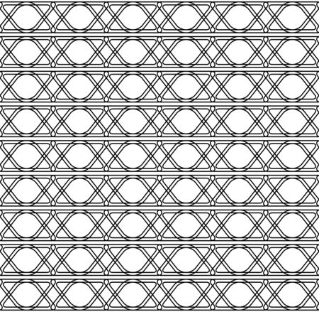 Black and white geometric seamless pattern modern stylish with line, abstract background, vector, illustration. Illustration