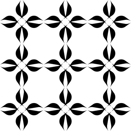 Black and white geometric seamless pattern, abstract background, vector, illustration.