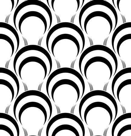 repetition: Black and white geometric seamless pattern, abstract background, vector, illustration.