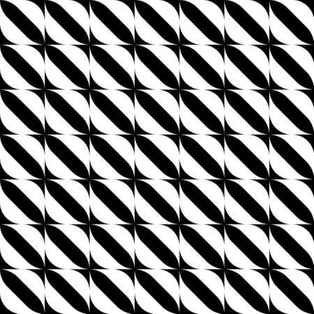 Black and white geometric seamless pattern with stripe, abstract background, vector, illustration.