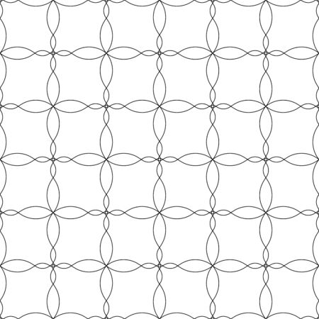 Black and white geometric seamless pattern with wave line, abstract background, vector, illustration.