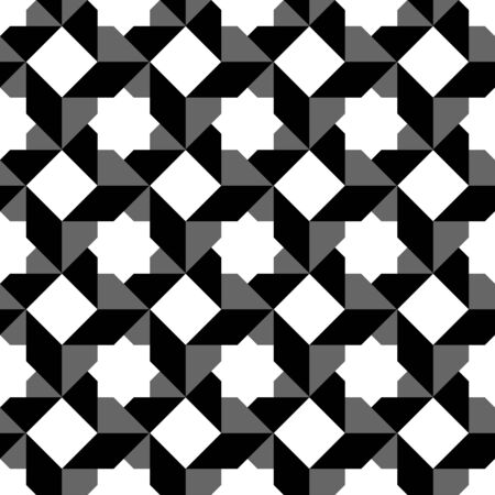 trapezoid: Black and white geometric seamless pattern, abstract background, vector, illustration.