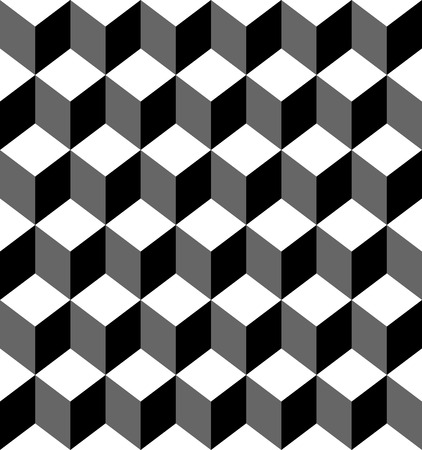 trapezoid: Black and white geometric seamless pattern with trapezoid and diamond, abstract background, vector, illustration.