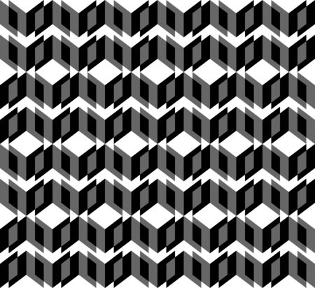 trapezoid: Black and white geometric seamless pattern with triangle and trapezoid, abstract background, vector, illustration.