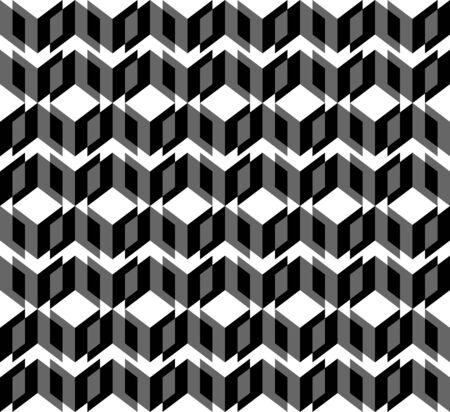 trapezoid: Modelo incons�til geom�trico blanco y negro con el tri�ngulo y trapecio, resumen de antecedentes, vector, ilustraci�n.