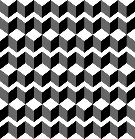 trapezoid: Modelo incons�til geom�trico blanco y negro con el trapecio y el diamante, resumen de antecedentes, vector, ilustraci�n.