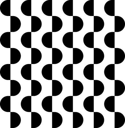 semicircle: Black and white geometric seamless pattern with semicircle, abstract background, vector, illustration.