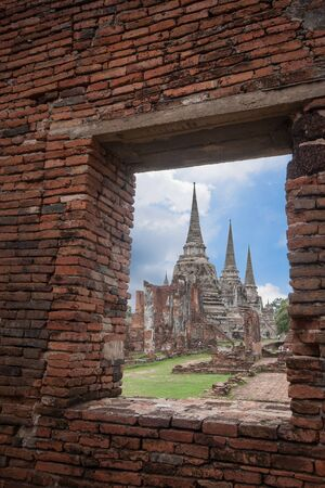historic site: The historic site Wat Phra Srisanphet in Ayutthaya, Thailand.