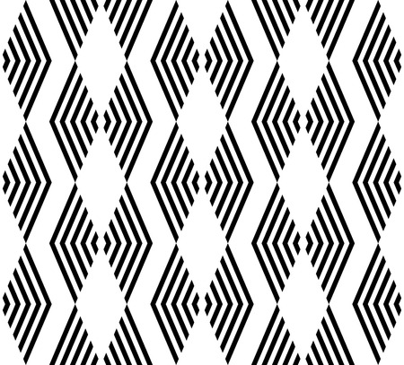 trapezoid: Black and white geometric seamless pattern with stripe. Abstract background. Vector seamless pattern.