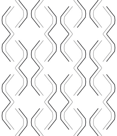 dashed: Black and white seamless pattern modern stylish with dashed line. Abstract background. Vector seamless pattern.