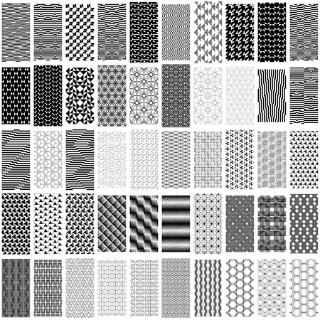 trapezoid: Set of black and white geometric seamless pattern. Abstract background. Vector seamless pattern.
