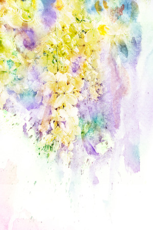 Abstract watercolor illustration of blossom flower. Watercolor painting on paper. Floral watercolor illustration. illustration