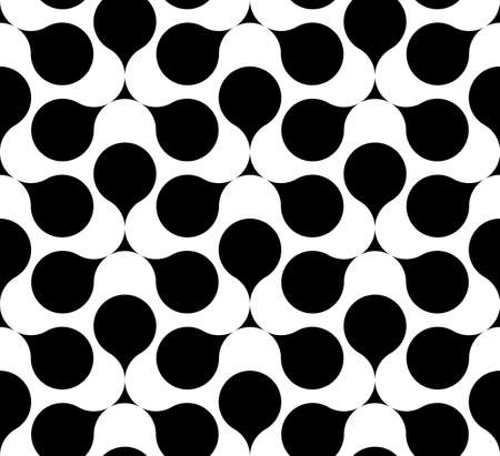 Black and white geometric seamless pattern. Abstract background. Vector seamless pattern.