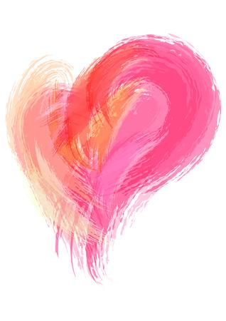 Abstract Aquarell Pinselstrich Hintergrund. Vector Hintergrund Illustration. Künstlerische Herz Hintergrund. Vektorgrafik