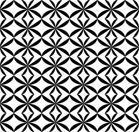 patchwork pattern: Black and white geometric seamless pattern. Abstract background. Vector seamless pattern.